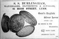 1902 Oct 31st S S Burlingham watch