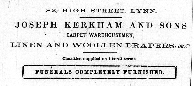 1870 19th Feb Joseph Kerkham & Sons