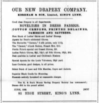 1893 June 3rd Kerkham & Son Ltd @ No 82
