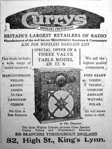 1930 Feb 7th Currys