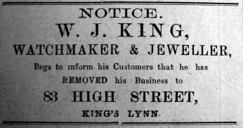 1917 Sept 28th W J King moves in