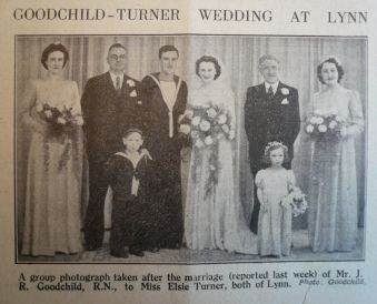 1942 Apr 24th J R Goodchild weds