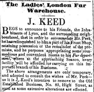 1848 July 29th John Keed first floor in ad 23 Sept