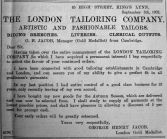 1902 Sept 5th London Tailoring Co
