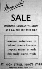 1947 Aug 8th Heyworths