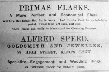 1910 Aug 12th Speeds Primas flasks