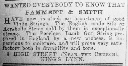 1914 July 3rd Pamment & Smith