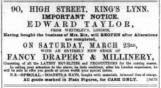 1889 March 23rd Edward Taylor @ No 90 ex Mrs Rix