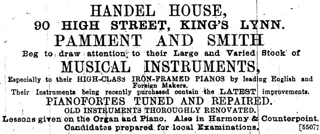 1893 Jan 7th Pamment & Smith @ 90