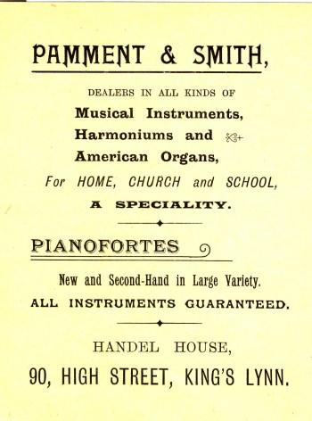 1901 Mar 12&13 Pamment & Smith Bazaar prog