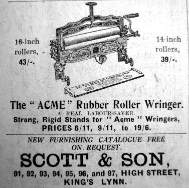 1929 Mar 15th Scott & Son ad