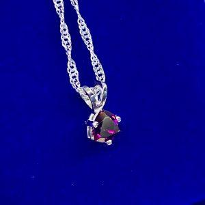 Rhodolite Garnet Pendant