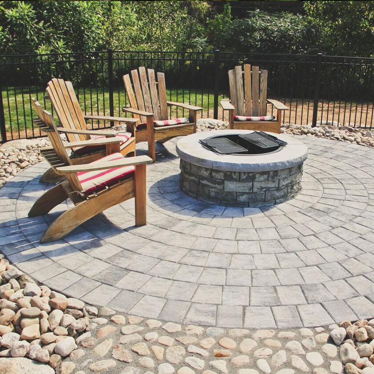 ridge circle paving stone kit nicolock