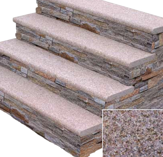 Stonehenge Stair Treads – Kings Building Material | Outdoor Stone Stair Treads | Deck | Curved | Backyard | Unique | Stone Veneer