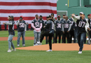 A Memorable Moment At Fenway As Gronk, Edelman and Gilmore Throw Out The First Pitch