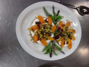 Herbs in Cooking Almond Tarts with Fresh Apricots and Basil Flowers