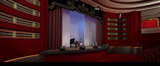 Kings Theatre Kirkcaldy main stage 3D visualisation