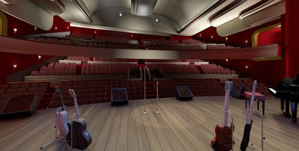 Kings Theatre Kirkcaldy main stage - 3D visualisation
