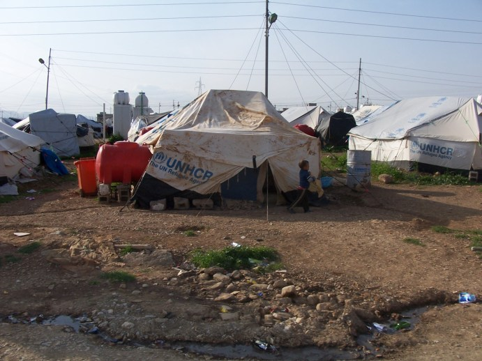 Syrian Refugee Camp in March 2014 - Source: Wikipedia