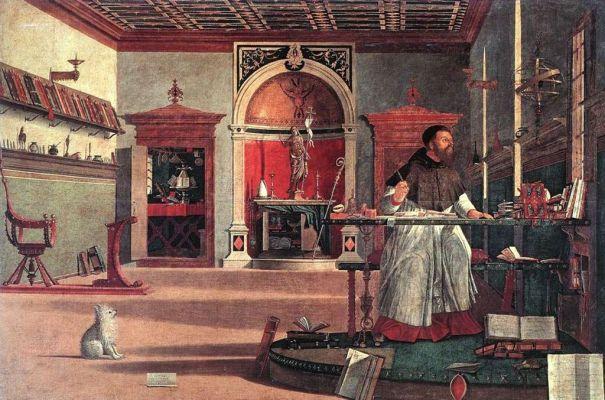 Visione di Sant'Agostino, by Vittore Carpaccio, 1502