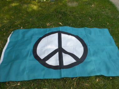 Image of the Peace Flag to be raised at Regina City Hall September 18th, 2015