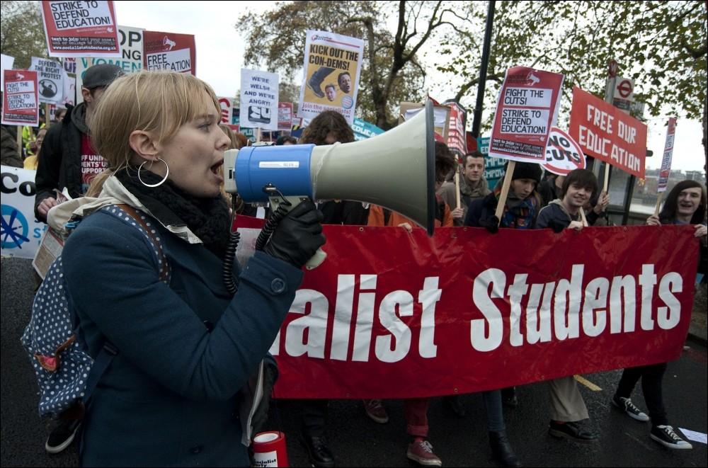 Kingston University students protest over maintenance grant cuts