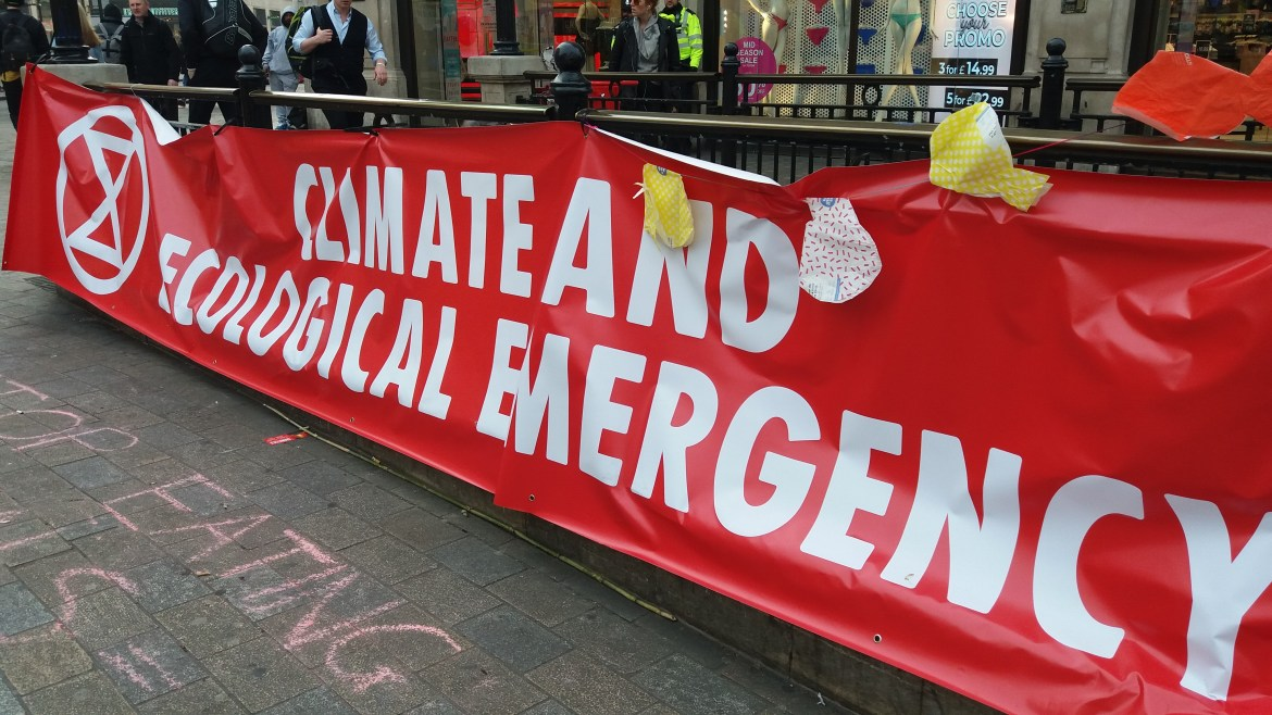 Climate change protests in London: demonstrators accept they may be arrested