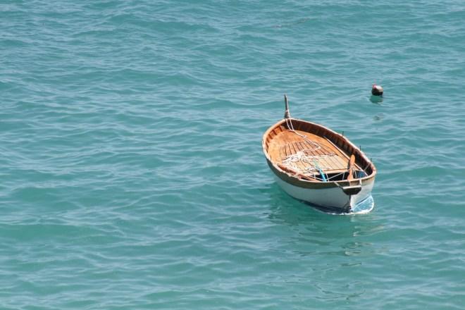 Lonely Boat in Cinque Terra