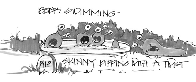 Eleven more slugs swimming