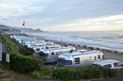 Airstream at the beach