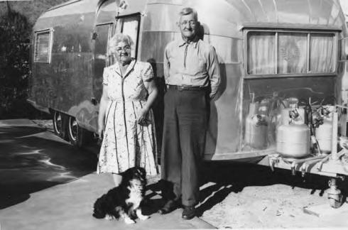 Airstream with Grandpa