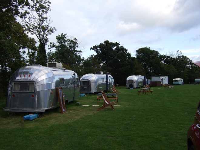 The Airstreams line up!