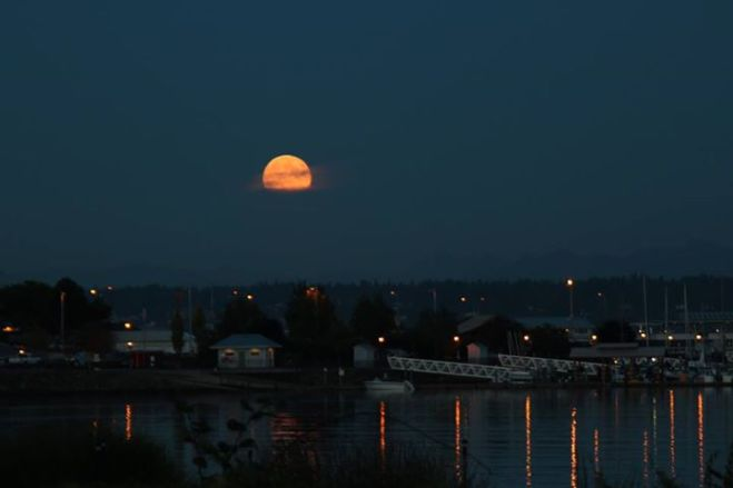 Moon over Kingston