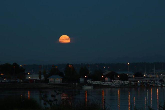Moon over Kingston