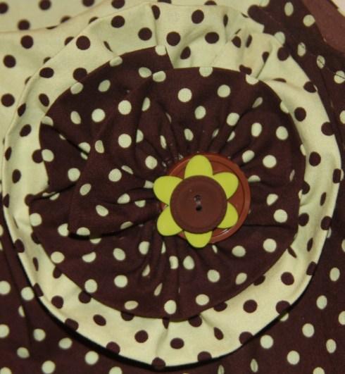 Brown & Green Dot Detail