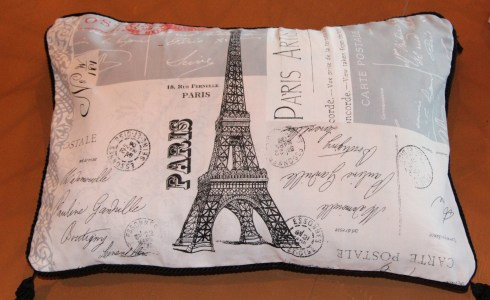 Paris on a pillow
