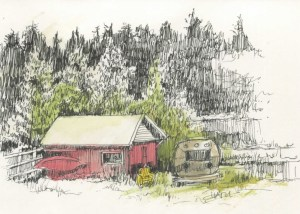 Barn with Airstream