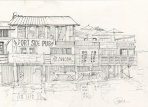 Portside Pub BW