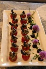 Black Olive & Caper Stuffed Cherry tomatoes