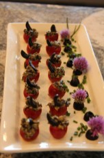 Black Olive & Caper Stuffed Cherry tomatoes