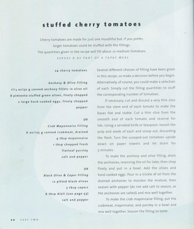 Stuffed Cherry tomato recipes
