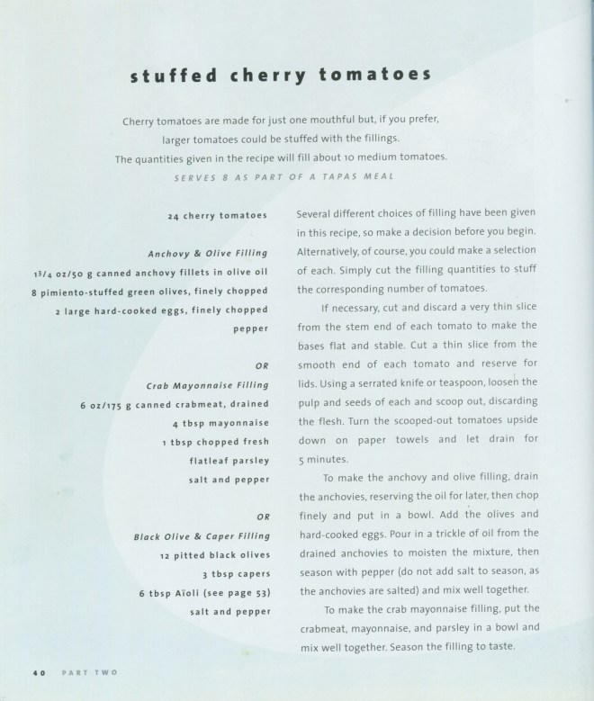 Stuffed Cherry tomato recipes