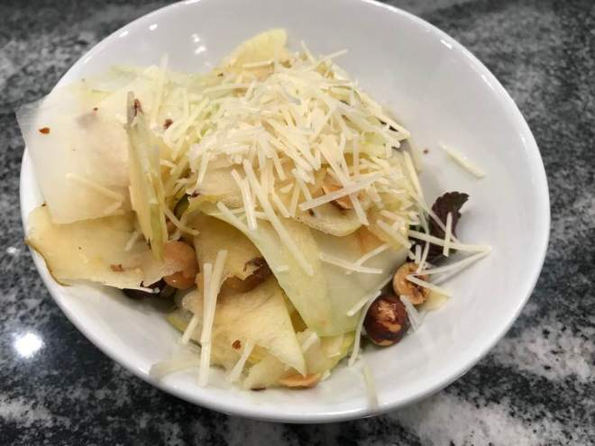 Kohlrabi:Apple:Hazelnut Salad
