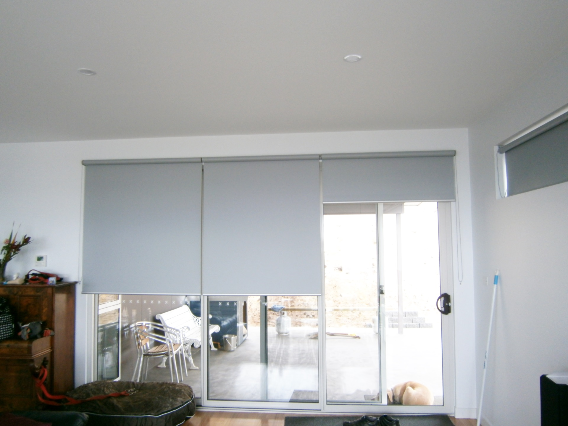 Roller Blinds at window