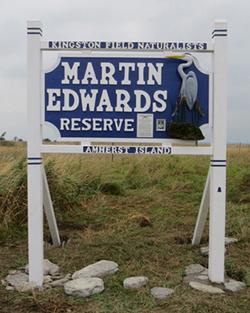 Martin Edwards Reserve Sign