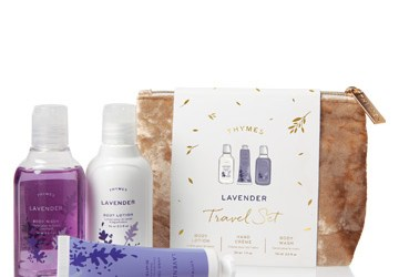 Lavender Travel Set With Beauty Bag
