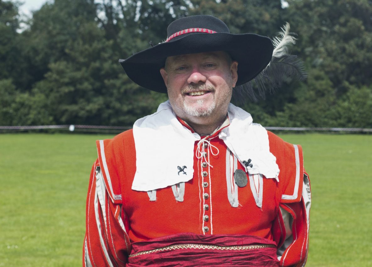English Civil War Renactor from Sir Marmaduke Rawdon's Regiment of Foote