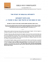 02 Integrity With God  – There Is Only One Truth In The Mind Of God – A4 – final