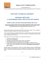 03 Integrity With God  – Discovering God's Truth For The Church – A4 – final