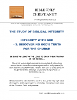 03 Integrity With God  – Discovering God's Truth For The Church – A5 – final
